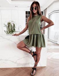 Šaty - kód 6612 - 2 - olivovo zelená
