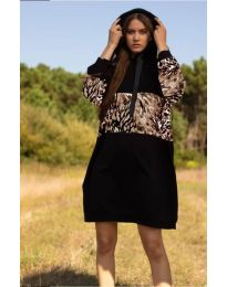 Šaty - kód 4546 - 5 - čierná