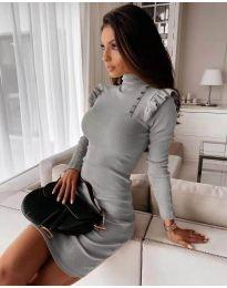 Šaty - kód 8484 - sivá