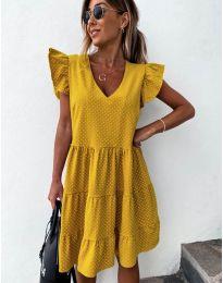 Šaty - kód 211 - hořčičná