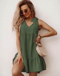 Šaty - kód 7206 - olivovo zelená