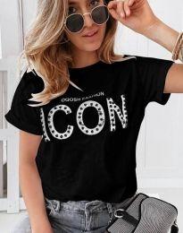 Tričko - kód 4357 - čierná
