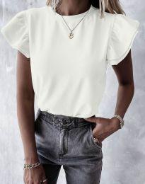 Дамска тениска в бяло - код 6215