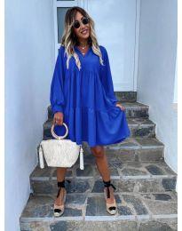Šaty - kód 6643 - modrá