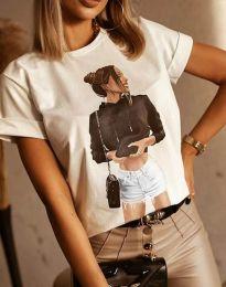 Tričko - kód 1538 - biela