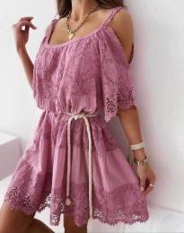 Šaty - kód 6954 - pudrová