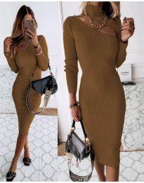 Šaty - kód 149 - hnedá