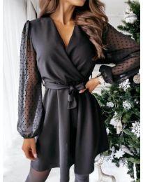 Šaty - kód 1600 - 1 - čierná