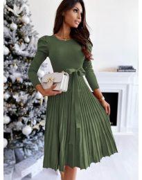 Šaty - kód 3939 - olivová  zelená