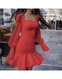 Šaty - kód 3605 - červená