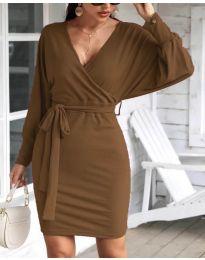 Šaty - kód 1197 - hnedá