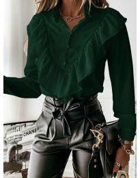 Košeľa - kód 9032 - olivová  zelená