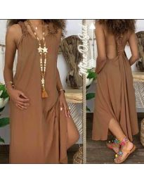 Šaty - kód 9597 - hnedá