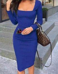 Šaty - kód 4521 - tmavomodrá