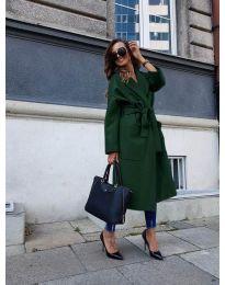 Kabát - kód 9099 - olivová  zelená