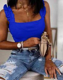 Дамски топ рипс в синьо - 3249