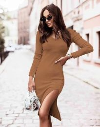 Šaty - kód 6593 - cappuccino