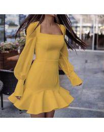 Šaty - kód 3605 - hořčičná