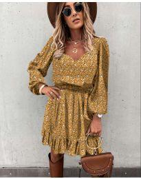 Šaty - kód 0366 - hořčičná