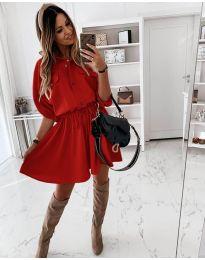 Šaty - kód 8586 - červená