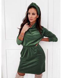 Šaty - kód 1714 - tmavě zelená