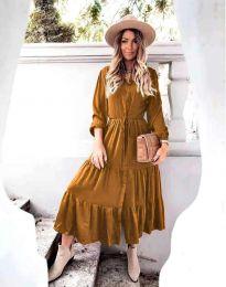 Šaty - kód 6522 - hnedá
