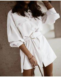Šaty - kód 6461 - biela