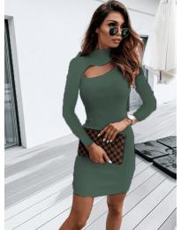 Šaty - kód 883 - olivová  zelená