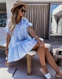 Šaty - kód 6144 - svetlo modrá