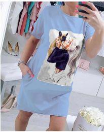 Šaty - kód 619 - modrý