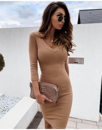 Šaty - kód 4040 - cappuccino