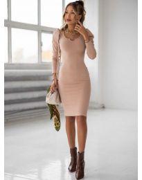 Šaty - kód 11548 - pudrová