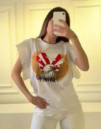 Tričko - kód 1436 - 1 - biela