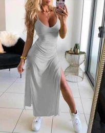 Šaty - kód 4754 - 5 - tmavošedý