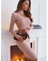 Šaty - kód 149 - pudrová