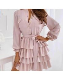 Šaty - kód 7356 - pudrová