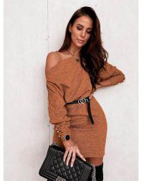 Šaty - kód 4442 - hnedá
