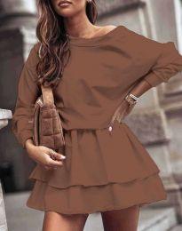Šaty - kód 0525 - hnedá