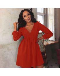 Šaty - kód 0588 - červená