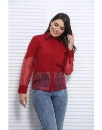 Košeľa - kód 0638 - 4 - bordeaux