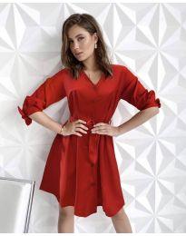 Šaty - kód 9028 - červená