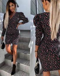 Šaty - kód 2055 - 2 - čierná